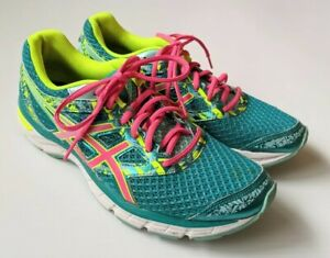 Asics Gel Excite 4 T6E8N Women Running Jogging Athletic Shoes Neon Pink Green 10