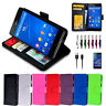 NEW Leather ID Wallet Case Cover for Sony Xperia Z3 Z4 Z5 Premium