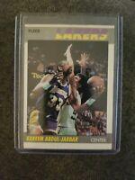 1987 Fleer Basketball #1 Kareem Abdul-Jabbar