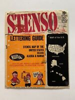 Vintage 1960's Stenso Stencil Set U.S. Map Very Rare Includes Hawaii And Alaska