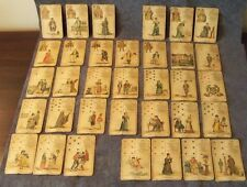 FORTUNE TELLING ORACLE CARDS (INCOMPLETE) 1800's LENORMAND LePetit CARTOMANCIEN