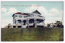 WATERLOO COUNTY GOLF Country Club GALT ONTARIO CANADA PC Postcard ONT Gofing