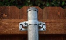 "2-3/8"" Galvanized Steel To Wood Rail Terminal Fence Post Bracket Fastener 24PK"