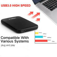2.5''  6TB External Hard Disk Drive USB 3.0 Data Transfer HDD Box Case Black #