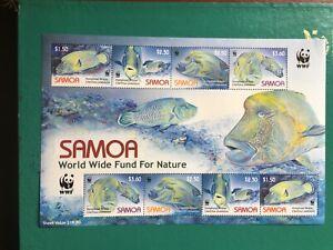 SAMOA 2006 MNH WRASSE WWF MINISHEET FISH
