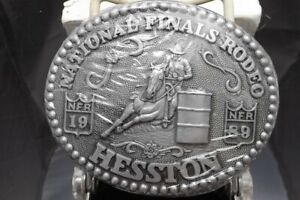 HESSTON 1989 WOMAN'S BARREL RACER EXTRA BUCKLE FOR YEAR