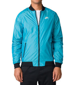 Mens Nike Windrunner Full Zip Varsity Jacket 924517-416 Blue New Size M