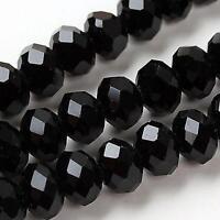 98pcs 6x4mm Rose multicolore cristal pierres précieuses lâche perles