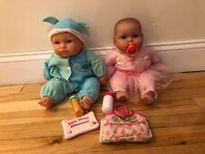 "Berenguer Berjusa Jc Toys Newborn 15"" Vinyl Baby Boy & Girl Outfits & Bottles"