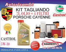 KIT TAGLIANDO PORSCHE CAYENNE 3.0 V6 DIESEL 184 KW DAL 8/2014+ 7L CASTROL 5W30