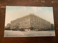 Vintage Hotel Lodi Lodi California Postcard