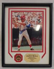 Johnny Bench Signed 8x10 Photo Auto Framed HighLand MINT {Numbered 64 of 250}