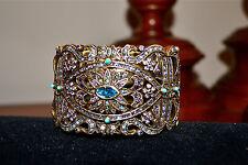NIB $250 HEIDI DAUS Elegant *Romance in Artistry* Crystal CUFF Bangle Bracelet