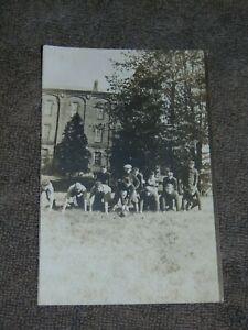 ORIGINAL CIRCA 1910 RPPC POSTCARD OF HIGH SCHOOL FOOTBALL TEAM