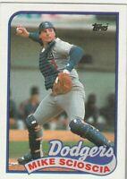 FREE SHIPPING-MINT-1989 (DODGERS) Topps  #755 Mike Scioscia PLUS BONUS CARDS