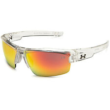 Under Armour UA Igniter Men's Clear Frame Orange Mirror Lens Sunglasses