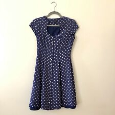 J Peterman Dress Silk Polka Dot Retro Vtg Style Dress Size 4