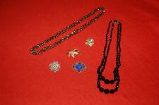 Lot de Bijoux fantaisie, vintage - broches , colliers