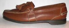 Johnston & Murphy Passport Brown Leather Kiltie Tasseled Loafer Shoe Size 10.5 D