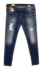Pepe Jeans, W31/L28, Cher, Slim Fit, Slim Leg, Destroyed Look, Blue Denim, 31/28