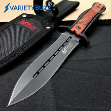 MTECH FIXED BLADE TACTICAL HUNTING SURVIVAL BOWIE KNIFE Pakkawood Combat Dagger