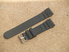 HEAVY 22mm RESIN BLACK DIVERS WATCH STRAP