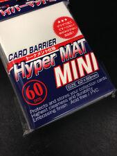 Yugioh 1 x KMC MINI HYPER MAT WHITE Card Barrier Protector Sleeves 60ct  + Bonus
