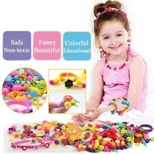 Kid Jewelry Fashion Kit Diy Necklace Bracelet Beads Crafts Birthday Toy Gifts