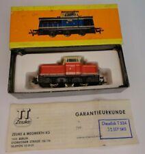 Spur TT Diesellok T334 CSSR - 345/50 , rot , Zeuke TT Bahnen