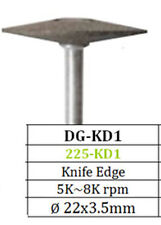 Diamond Grinder Knife Edge DG-KD1 Coarse 22mm x 3.5mm for Ceramics Soft Alloys