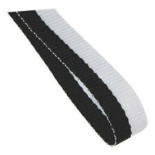 Medal Ribbon / Lanyard Black and White with Gold clips GREAT VALUE 22mm wide