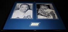 Sal Maglie The Barber Signed Framed 16x20 Photo Set JSA Dodgers