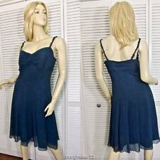 f3c6078ea8e6 Antonio Melani Sundress 6 Blue Spaghetti Strap A-line 100 Silk Gown