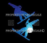 VRS SNOWBOARD COUPLE 2 pc Lot jump ski hat Metal Decal Car Sticker