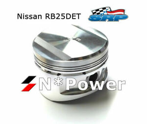 SRP FORGED PISTONS & RINGS 1.00MM+  for NISSAN SKYLINE R33 RB25DET STAGEA TURBO