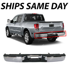NEW Chrome - Steel Rear Bumper Assembly for 2004-2009 Nissan Titan LE SE Pickup