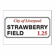 The Beatles Strawberry Fields Road Sign Postcard Picture Image 100% Official