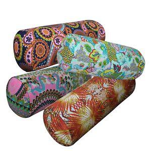 Bolster Cover*Paint Cotton Canvas Neck Roll Tube Yoga Massage Pillow Case*AF6