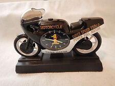 Vintage Paris-Dakar Motorcycle Alarm Clock Advertising