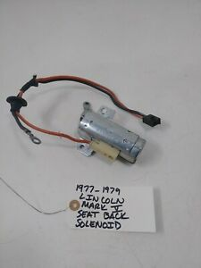 OEM 1977 - 79 Lincoln Mark V seat back solenoid D60B-6562690-BA