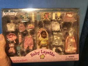 BARBIE DOLL KRISSY BABY LAYETTE & ASSESORIES 1999 NEW FACTORY SEALED Rare NM