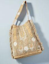 New $318.00 Anthropologie Antik Batik Maliah Tote Glass Bead Bag