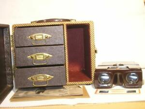 Kodak Kodaslide 3D Stereo I Viewer+Baja Wood Case w/(3) 31 Capacity Slide Trays
