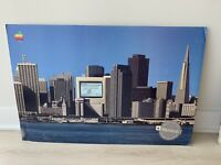 VINTAGE Apple Computers Macintosh Seminars Dealer Sign Poster San Francisco Rare