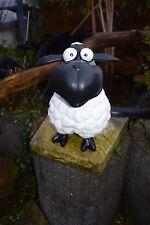 Deko Figur Schaf Molly, sitzendes Schaf, Gartenfigur, Hausfigur, Lämmchen ,Bock