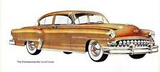 Old Print. Brown 1953 DeSoto Powermaster Six Club Coupe Auto