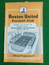 Football programme Boston v Hereford 11th October 1958