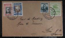 1937 Murcia Spain Civil War Airmail Cover To Paris France