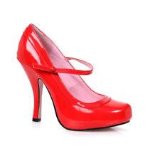 Scarpe da donna stiletti mary jane rossi