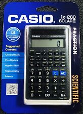 Casio FX-260 Scientific Calculator SAT/PSAT/ACT SOLAR II & Fraction Black White